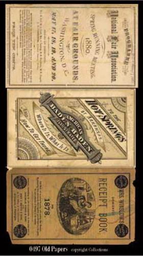 Old paper vintage Papiere Amerika