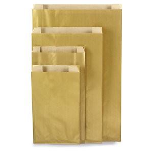 Papierbeutel gold 18x8x25cm