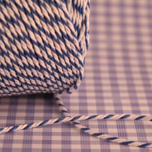 Baumwollgarn blau / weiß Metzgergarn 3fädig