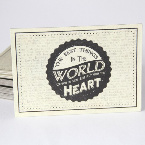 Postkarte 'The best things in te world...'
