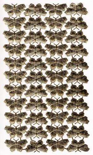 44 goldene Schmetterlinge Papier geprägt