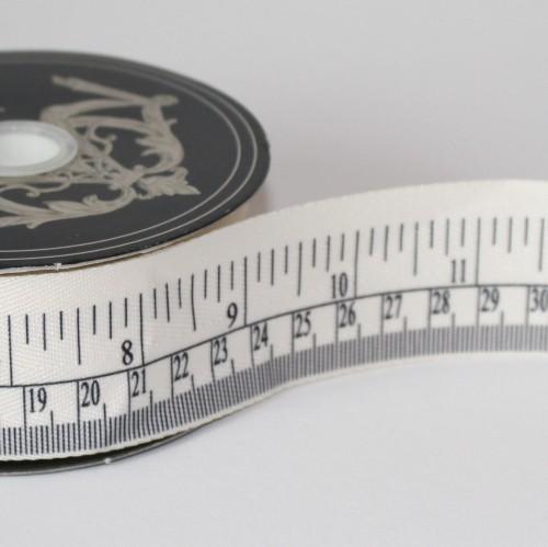 Dekoband vintage Lineal cm / inch 4cm