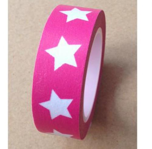Masking Tape Sterne pink