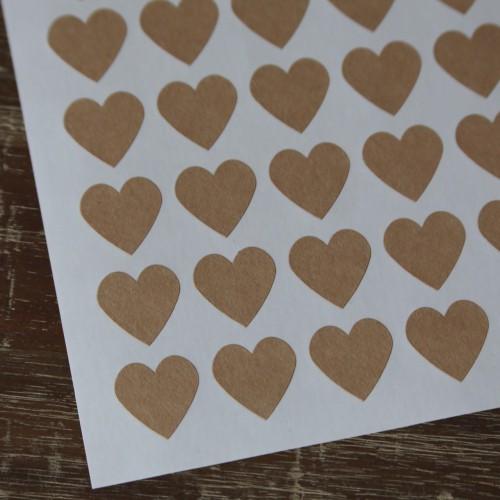54 Sticker Label mini Herz Kraft 19 x 19 mm