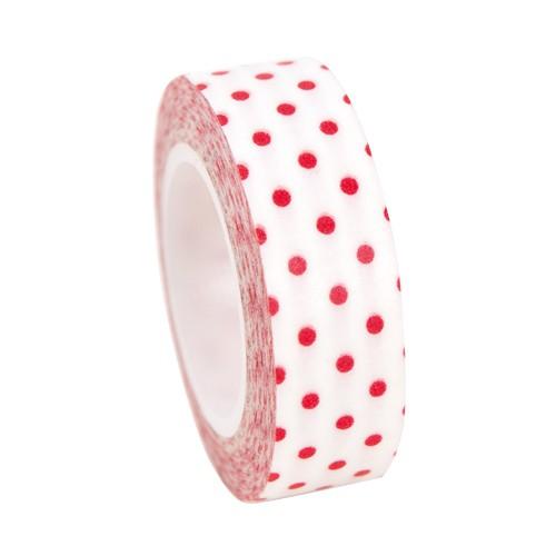 Masking Tape weiss mit roten Punkten
