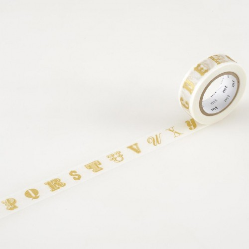 Masking Washi Tape - alphabet gold