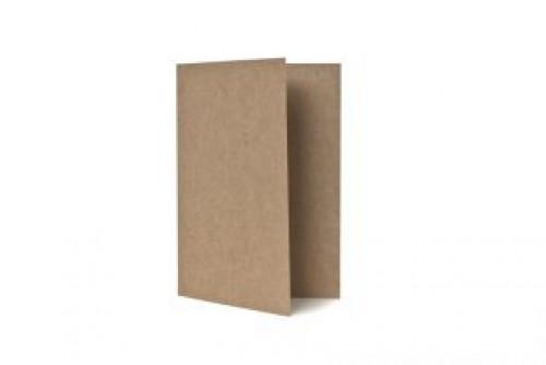 5 Klappkarten & Umschläge C6 Kraftpapier braun