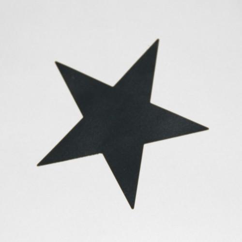 10 Stern Sticker schwarz