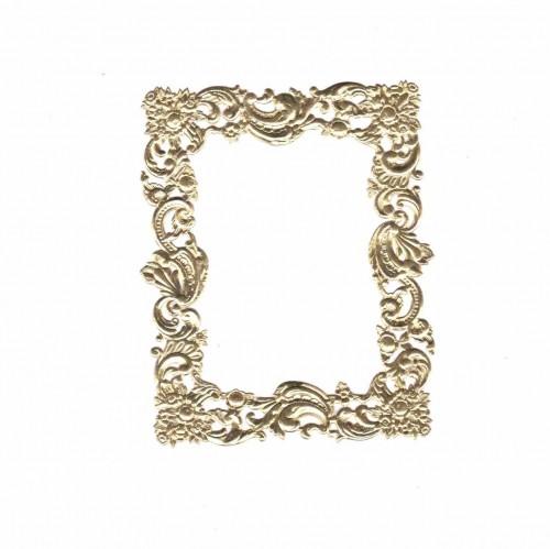 goldener Rahmen Relief rechteckig
