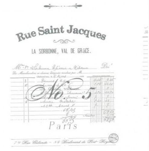 Geschenkpapier vintage Script Paris weiss 5 Meter B55cm