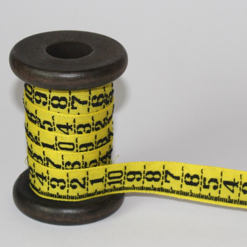 Stickband Massband Zollstock gelb
