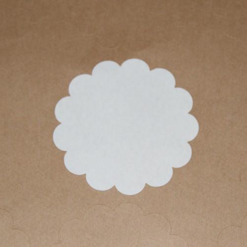 blanko A4 Bogen Kraftpapier braun Label 12 Stk Scallop rund