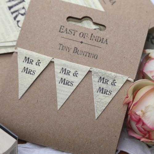 kleine Wimpelgirlande Hochzeit Mr&MRS