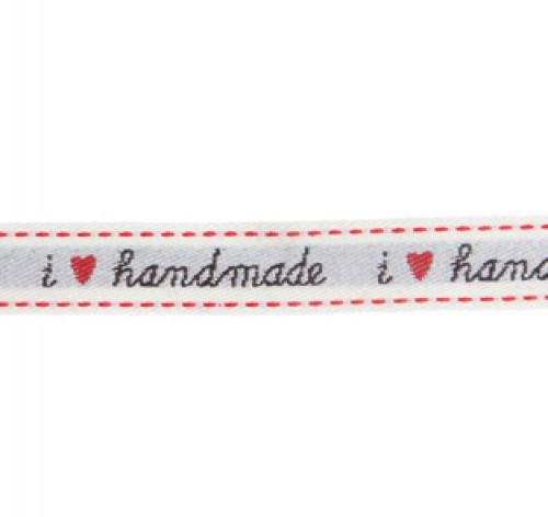 "Webband ""I love handmade"" Rolle 3 Meter"