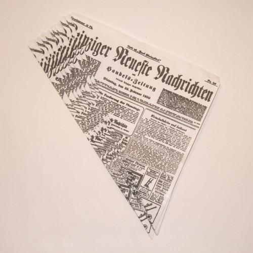 10 Spitztüten Zeitungsdruck
