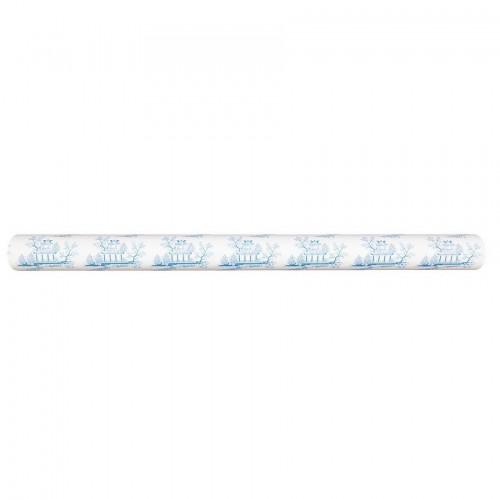 Geschenkpapier China blue hellblau