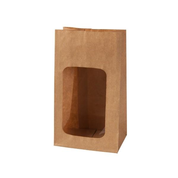 10 kleine papierbeutel kraft braun mit fenster 116x9x5cm achwieschoen. Black Bedroom Furniture Sets. Home Design Ideas