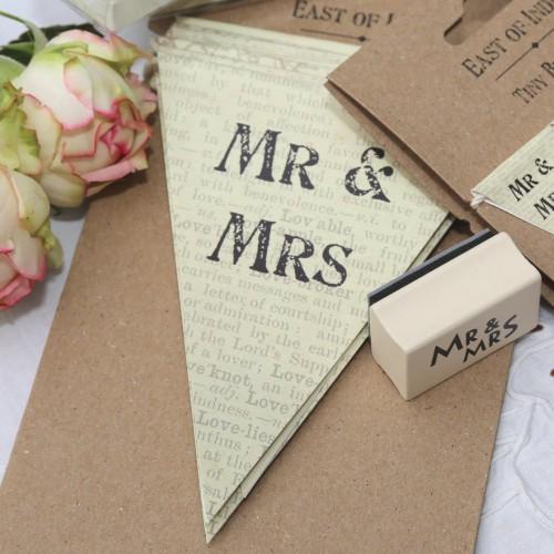 gr. Wimpelgirlande Hochzeit MR&MRS