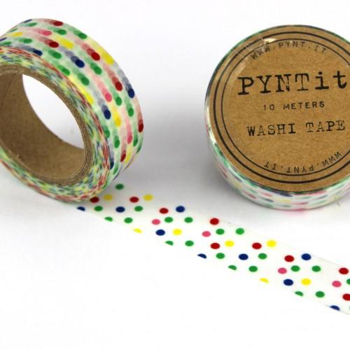Washi Masking Tape bunt gepunktet