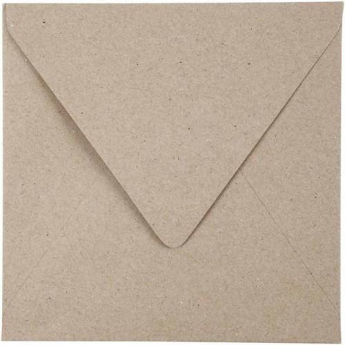 25er Pack Recycl. Briefumschläge 15 x 15 cm