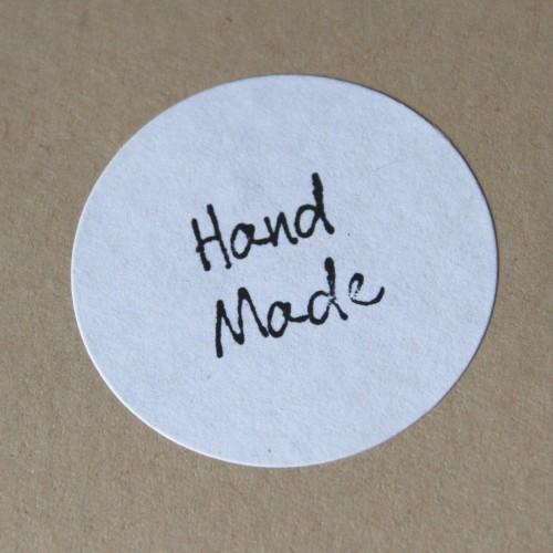 blanko A4 Bogen Kraftpapier Label 30 Stk rund weiss