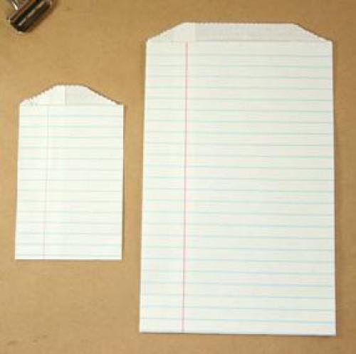 4 Stk. Papierbeutel liniertes Kraftpapier, 2 Größen