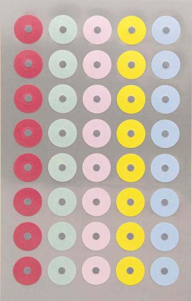 160 Lochringverstärkungen pastell unifarben