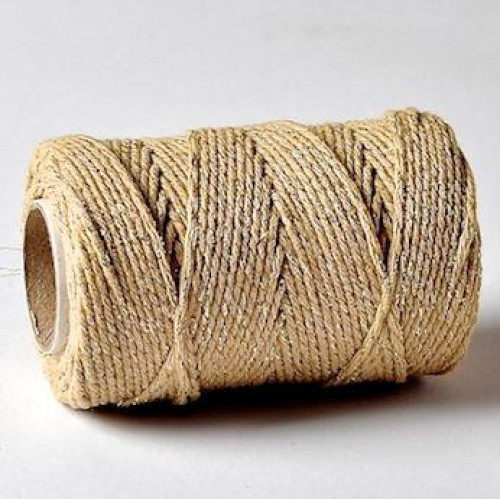 Bakerstwine Sparkle beige-gold Rolle 100m