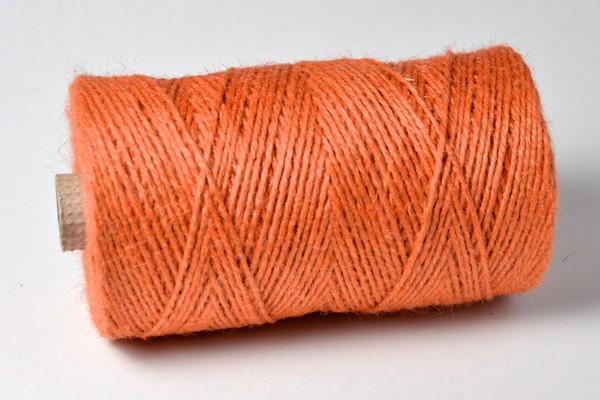 Jute Garn orange 100m Rolle