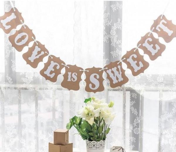 Papiergirlande LOVE IS SWEET für Candy Buffet Kraft