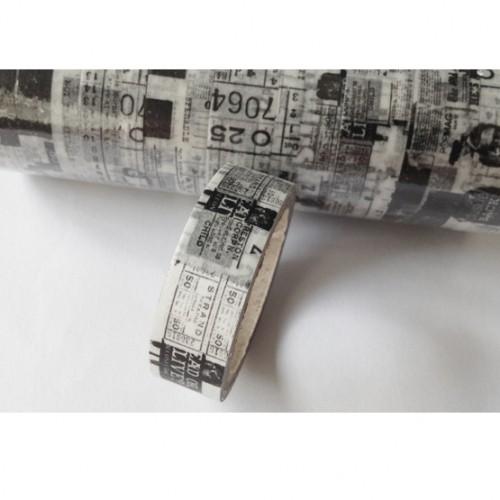 Masking Tape vintage tickets schwarz/weiss