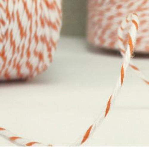 Divine Twine Garn orange / weiß 4-fädig / proMeter