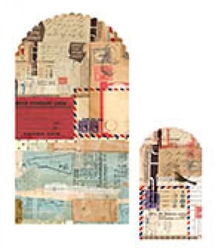10 Papiertüten vintage Collage Airmail
