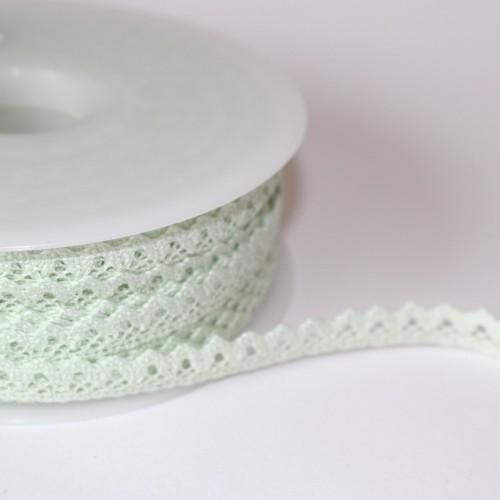 Spitzenband hellgrün 10mm pastell