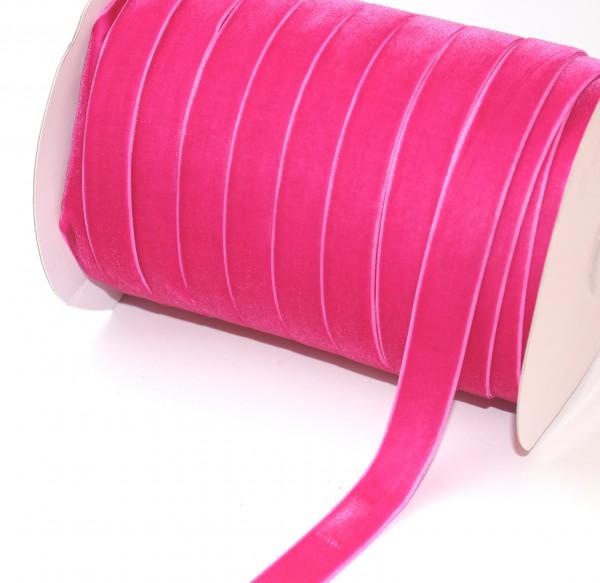 fuchsia pink Samtband 15mm