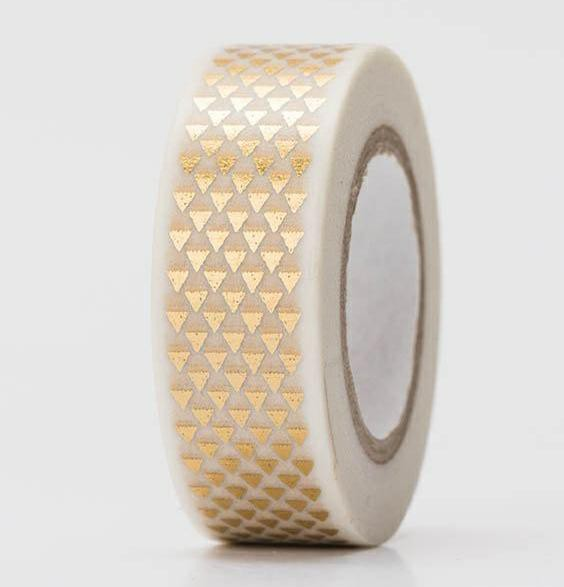 Masking Tape DREIECKE gold Hot Foil