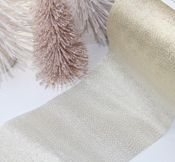 breites Organzaband 10cm Lurex glamour gold