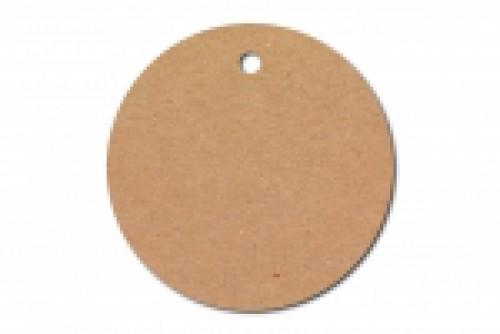 10 runde Pappanhänger kraft braun 50mm