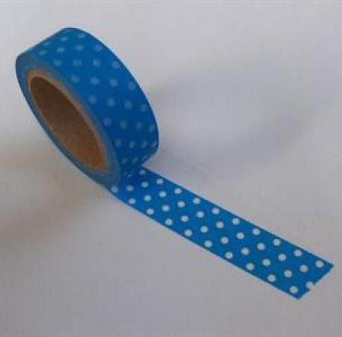 Washi Masking Tape blau weiss Punkte