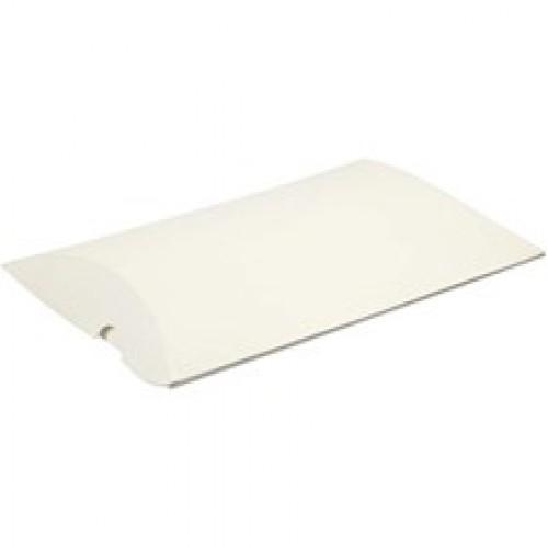 10 Faltschachteln Pillow weiss gross