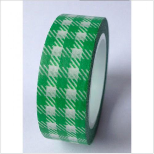 Masking Tape Vichykaro grün weiss kariert