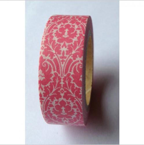 Masking Washi Tape - floral - rot weiss gemustert