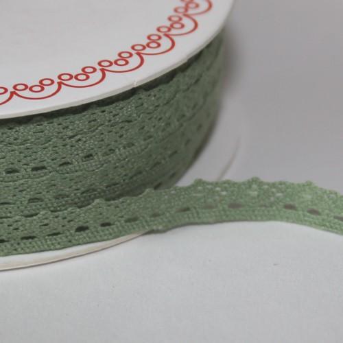 Spitzenband matt grün 10mm