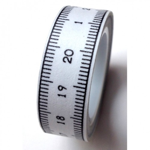 Masking Tape vintage Ruler Lineal weiss