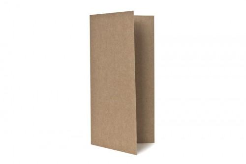 5 Klappkarten & Umschläge DIN lang Kraftpapier braun