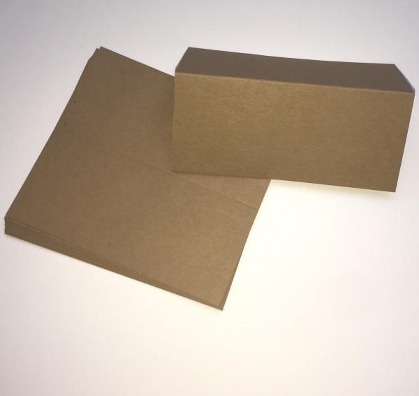 10 Tischkarten Namenskärtchen Kraftpapier