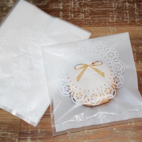 10 Folientüten Motiv Spitze für Kekse Gebäck