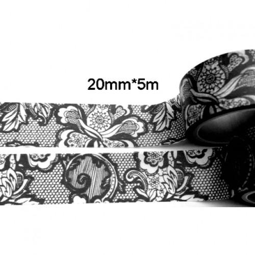 Masking Tape LACE schwarz Spitze