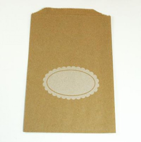 4 Stk. Kraft Papierbeutel Scallop