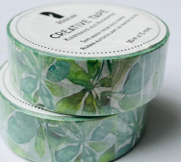 Masking Washi Tape - Blätter Dschungel